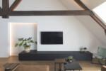 houten dakspanten in loft